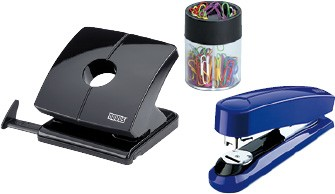 Hole punches, staplers & office utensils